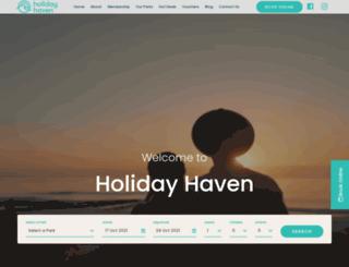 holidayhaven.com.au screenshot