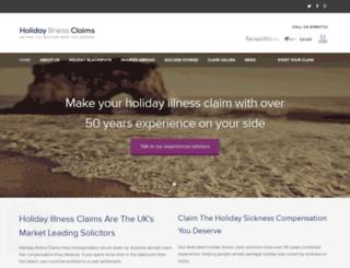 holidayillnessclaim.co.uk screenshot