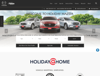 holidaymazda.com screenshot