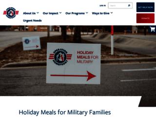 holidaymealsformilitary.org screenshot