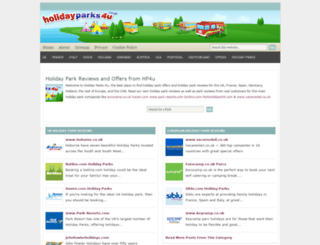 holidayparks4u.co.uk screenshot