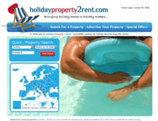 holidayproperty2rent.com screenshot