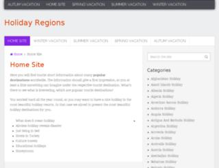 holidayregions.com screenshot