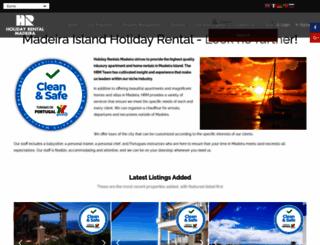 holidayrentalmadeira.com screenshot