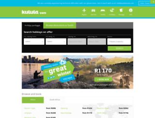 holidays.kulula.com screenshot