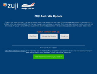 holidays.zuji.com.au screenshot