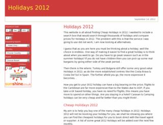 holidays2012.org.uk screenshot