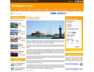 holidays2rhodes.com screenshot