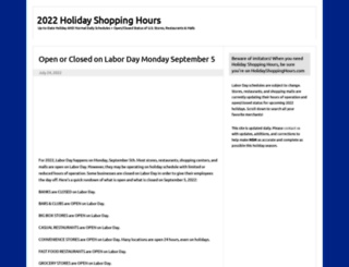 holidayshoppinghours.com screenshot