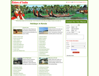 holidaysinkerala.org.uk screenshot