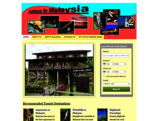 holidaysinmalaysia.org screenshot