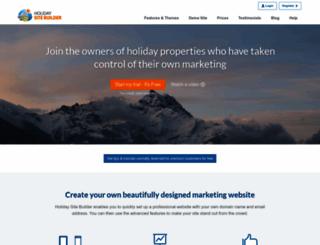 holidaysitebuilder.com screenshot