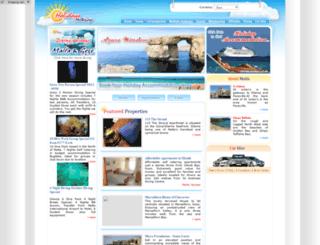holidaysmaltagozo.com screenshot