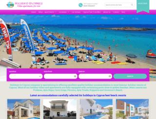 holidaystocyprus.com screenshot