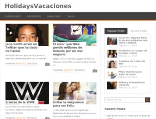 holidaysvacaciones.in screenshot