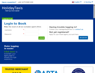 holidaytaxisagents.com screenshot