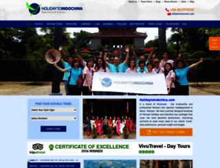 holidaytoindochina.com screenshot