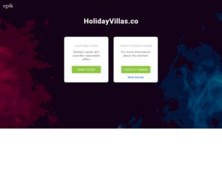 holidayvillas.co screenshot