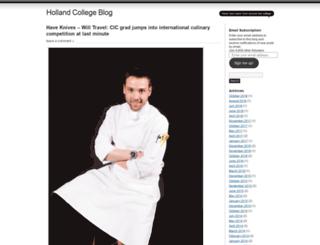 hollandcollege.wordpress.com screenshot