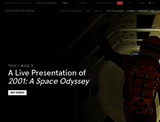 hollywoodbowl.com screenshot