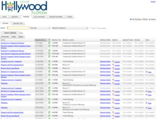 hollywoodfl.legistar.com screenshot