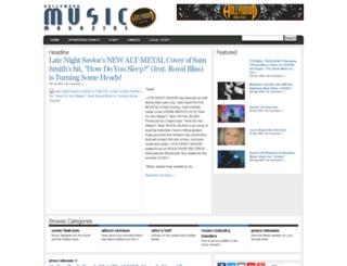 hollywoodmusicmagazine.com screenshot