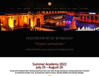 hollywoodmusicworkshop.com screenshot