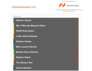 hollywoodwhisperer.com screenshot