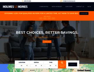 holmeshomes.com screenshot