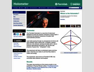holometer.fnal.gov screenshot