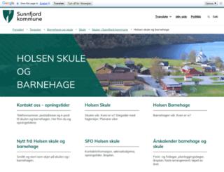 holsen.skule.no screenshot