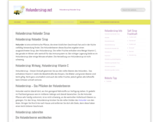 holundersirup.net screenshot
