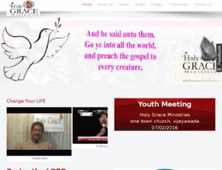 holygraceministries.org screenshot