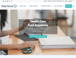 holyname.org screenshot