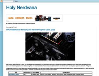 holynerdvana.blogspot.com screenshot