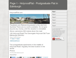 holyroodflat.com screenshot