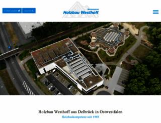 holzbau-westhoff.de screenshot