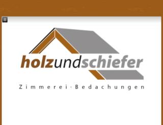 holzundschiefer.eu screenshot