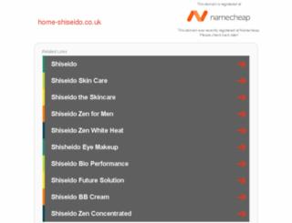 home-shiseido.co.uk screenshot