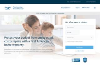 home-warranty.firstam.com screenshot
