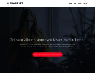 home.albumdraft.com screenshot
