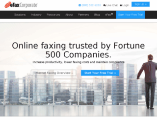 home.efaxcorporate.com screenshot