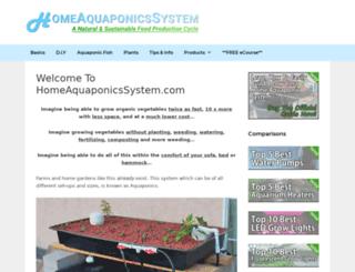 homeaquaponicssystem.com screenshot