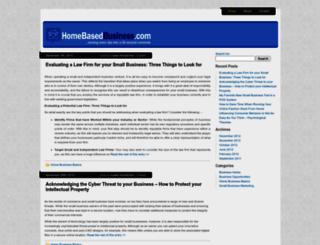 homebasedbusiness.com screenshot