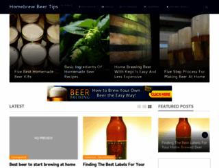homebrewbeertips.com screenshot