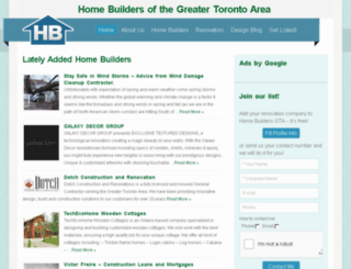 homebuildersgta.com screenshot