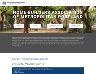 homebuildersportland.org screenshot