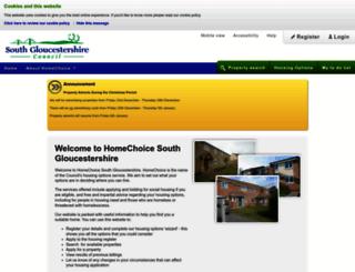 homechoice.southglos.gov.uk screenshot
