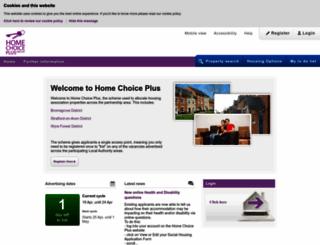 homechoiceplus.org.uk screenshot