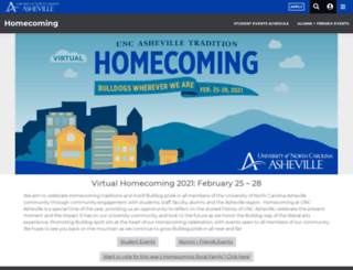 homecoming.unca.edu screenshot